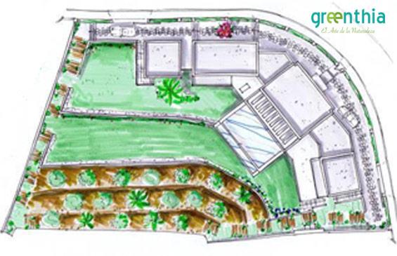 plano jardín paisajismo